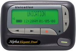 unication dual frequency pager